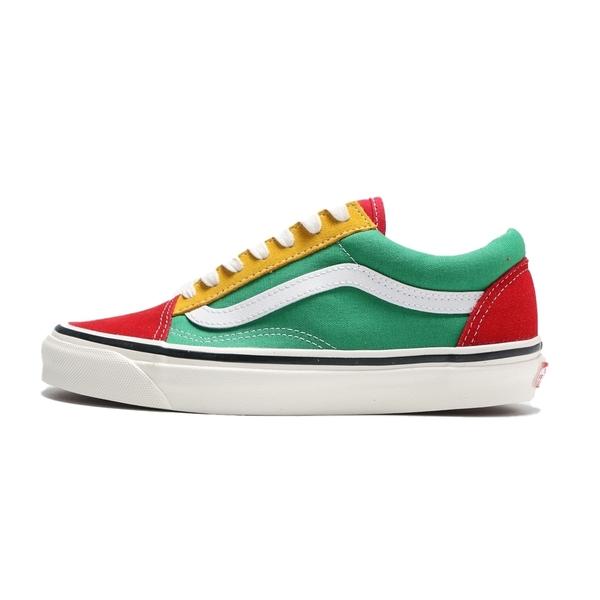 VANS 休閒鞋 板鞋 OLD SKOOL 36 DX 黃綠紅 拼接 休閒 女 (布魯克林) VN0A38G2XFM