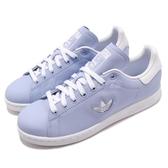 adidas 休閒鞋 Stan Smith W 藍 白 皮革 基本款 小logo 百搭款 女鞋【PUMP306】 CG6793