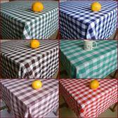 桌布-西餐廳酒吧咖啡廳格子桌布台布長方形正方形紅白格綠白格黑白格【全館免運】