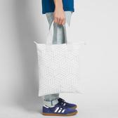 J- adidas Shopper 3D 三宅一生 購物袋 白 全白 男女款 三葉草 基本款 托特包 方便 DY2970