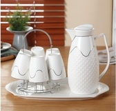 家用送禮冷水壺水杯套裝歐式創意水具茶杯茶具陶瓷涼水杯子 aj7300『紅袖伊人』