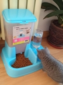 寵物碗 貓咪用品貓碗雙碗自動飲水狗碗自動喂食器寵物用品貓盆食盆貓食盆
