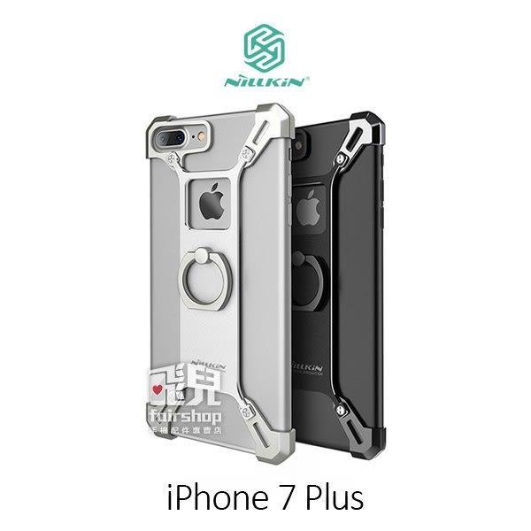 【妃凡】iPhone 7 Plus 5.5吋 銳甲創意指環支架 可立式 鏤空 手機殼 保護殼 金屬質感 手機套 (K)