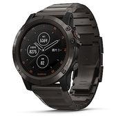 Garmin fenix 5 Plus 行動支付音樂GPS複合式心率腕錶 (石墨灰-鈦)