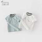 男童短袖 兒童夏裝女童男童短袖t恤2021年夏季童裝潮寶寶體恤嬰兒上衣純棉 歐歐