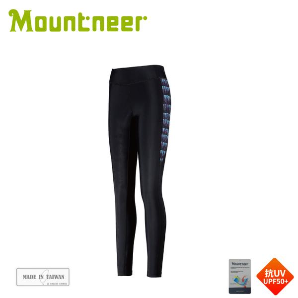 【Mountneer 山林 中性輕壓力貼腿褲《藍紫》】31S09/壓力褲/單車褲/運動褲/貼腿褲