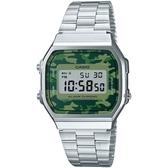 CASIO 復刻復古造型電子錶-銀(A168WEC-3D)