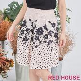 【RED HOUSE 蕾赫斯】點點花布裙(共2色)