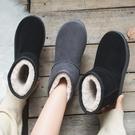雪地靴女2019冬季加絨加厚防滑中筒靴保暖面包鞋學生馬丁靴棉鞋女  依夏嚴選