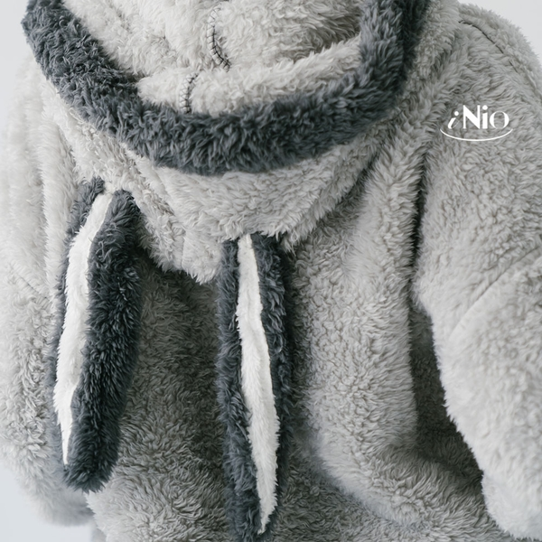 溫暖兔加厚珊瑚絨睡衣蜜絲絨家居服套裝(S-L適穿)★ 現貨快出【C8W6104】 iNio 衣著美學
