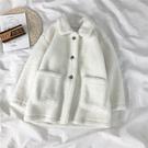 網紅秋冬百搭羊羔毛穿搭外套女冬2019冬季棉服新款韓版寬鬆絨棉衣-ifashion