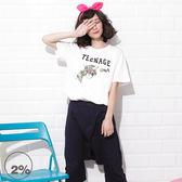 新品2%  2% TEENAGE 花卉圖騰槍T恤-白   優惠商品