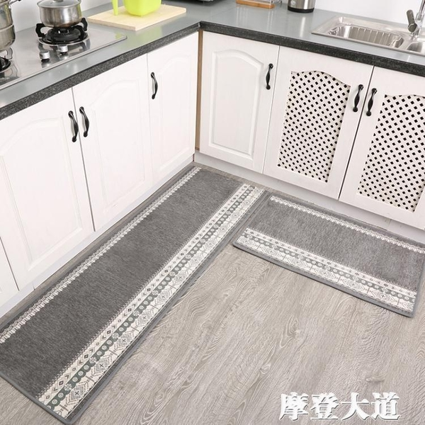 廚房地墊門墊進門地毯臥室門口門廳防油腳墊吸水吸油防滑墊子家用QM『摩登大道』