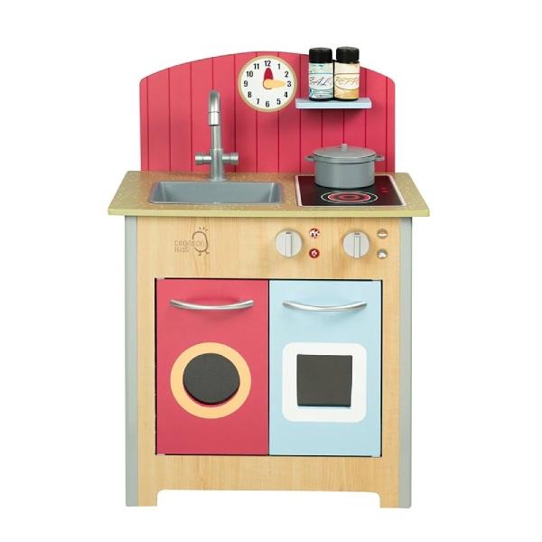 Teamson 小廚師波爾多木製家家酒玩具小廚房-木紋