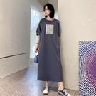 胖妹妹洋裝連身裙~大碼洋裝~/寬松長開叉橡筋泡泡短袖連身裙JYF5愛尚布衣