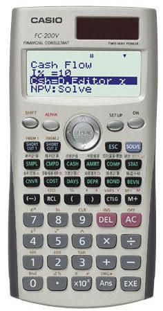 【宏崑時計】CASIO卡西歐財務型工程用計算機FC-200V 可團購 台灣卡西歐公司保固兩年