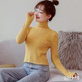 高領毛衣韓版女短款秋冬新款修身長袖針織打底衫上衣 zm8238『俏美人大尺碼』