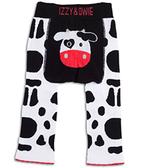 美國Izzy & Owie創意個性童裝 花漾彈性屁屁褲-黑白乳牛