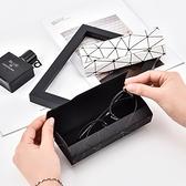眼鏡盒高檔復古文藝學生眼睛收納盒簡約便攜防壓眼鏡盒【古怪舍】