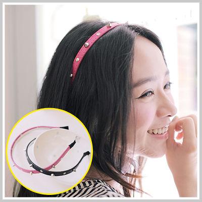 髮箍 韓劇同款個性龐克甜美風鉚釘皮質髮箍【O793】☆雙兒網☆ Fun 假