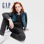 Gap男童 做舊風格水洗半高領牛仔背心 599645-藍色