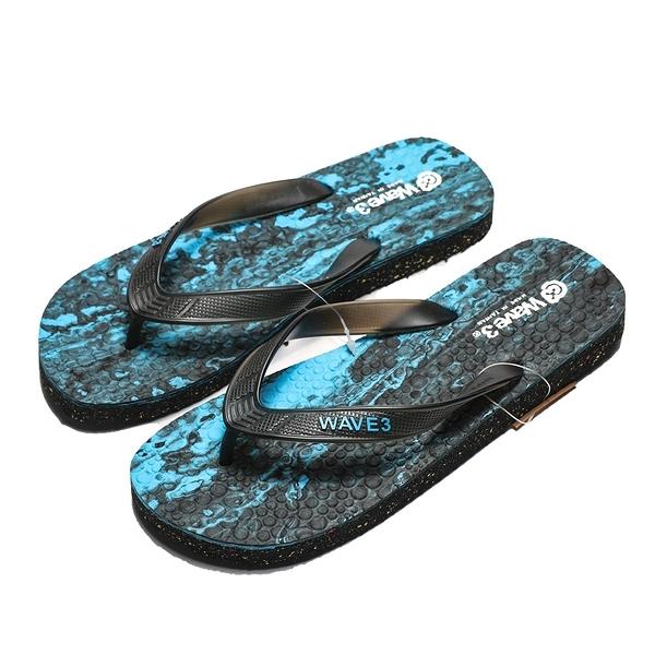 WAVE3 藍迷彩 潑墨 夾腳拖 拖鞋 男款(布魯克林) 17101203