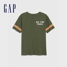 Gap 男童 創意風格圓領短袖T恤 573667-軍裝綠