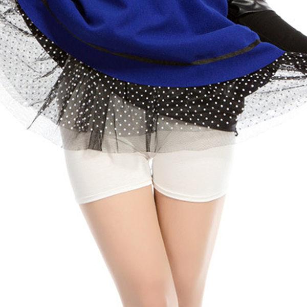 純色彈力內搭安全短褲   [黑 白] 兩色售 [雷絲款 平口款  ]