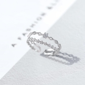 日式輕奢戒指純銀戒指女時尚簡約食指個性