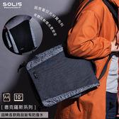 SOLIS [ 德克薩斯系列 ] 平板電腦側背包 (牛仔黑)