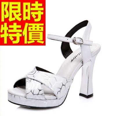 高跟涼鞋-水鑽夏日華麗女涼鞋3色55l2[巴黎精品]