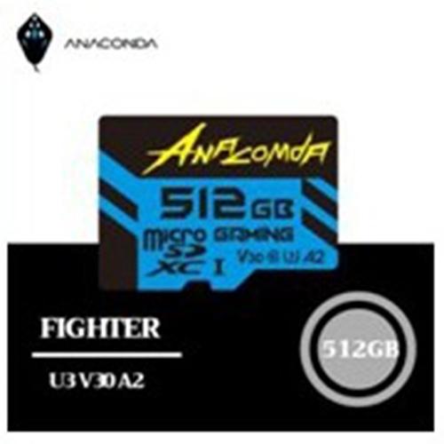 ANACOMDA 巨蟒 Fighter High Performance microSDXC UHS-I U3 遊戲專用記憶卡 512GB 記憶卡/讀:100MB/s /附轉卡/終保