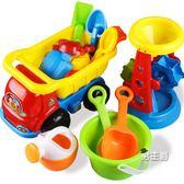 (交換禮物)洗澡玩具兒童節沙灘戲水玩具車套裝大號寶寶桶鏟子玩沙挖沙工具決明子洗澡