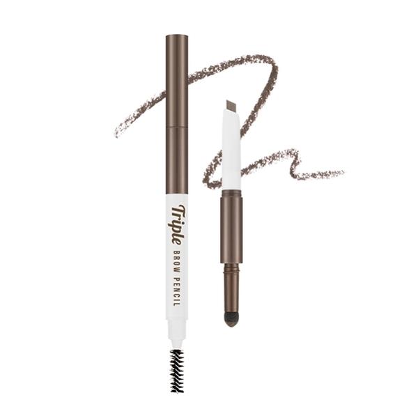 MISSHA 三式設計眉彩筆 (自然棕) 眉筆0.22g+眉粉0.5g