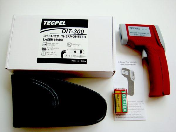 泰菱電子◆紅外線溫度計 非接觸式 測溫槍DIT-300 TECPEL