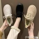 樂福鞋 韓版毛毛鞋女2021冬季新款時尚...
