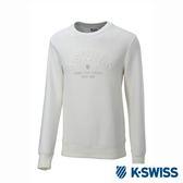 K-SWISS Round Sweat Shirts圓領長袖上衣-男-白
