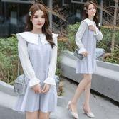 時尚長袖中大尺碼L-5XL/8005大碼女裝秋季新款韓版寬鬆顯瘦格子連身裙F4059依品國際