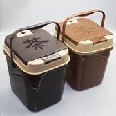茶渣桶 塑料廢水桶功夫茶具配件茶臺垃圾桶家用排水LJ7974『miss洛羽』