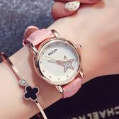 韓國時尚潮流女士皮帶手錶 韓版休閑女錶水鑽時裝錶《小師妹》yw194