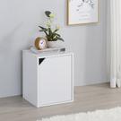書櫃 收納 堆疊 置物櫃【收納屋】簡約加高單門櫃-白色& DIY組合傢俱