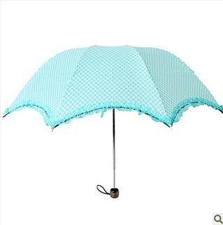 蕾絲花邊公主傘 三折阿波羅傘 折疊拱形傘 蘑菇傘晴雨傘