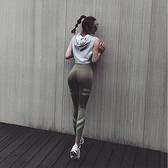 爆汗褲速干彈力高腰提臀跑步運動緊身長褲女瑜伽健身打底褲【步行者戶外生活館】