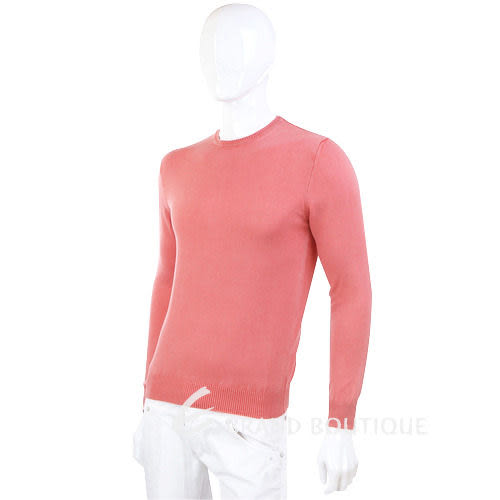 DANIELE FIESOLI 粉橘色素面針織長袖上衣 1230302-39