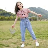 女童運動套裝 女童套裝夏裝洋氣新款中童大童時髦12女孩兒童夏季兩件套 快速出貨