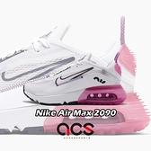 Nike 休閒鞋 Air Max 2090 GS 白 粉紅 女鞋 大童鞋 氣墊 半透明鞋面設計 運動鞋 【ACS】 CJ4066-003