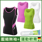 【超值優惠】女款 運動機能壓縮衣 無袖 II代 超值組合 + 德國樂活 運動舒緩 軟膏
