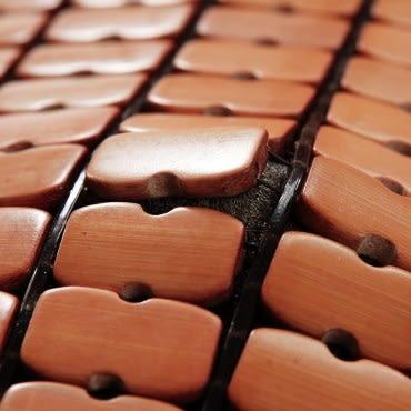 雅格驅蚊防蹣麻將竹立體記憶坐墊40x40x5cm