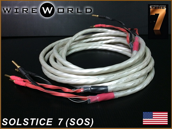 盛昱音響~美國 WireWorld SOLSTICE 7 喇叭線 2M*2【QUAD DNA Helix™技術】網路價$5600元 ~ 現貨
