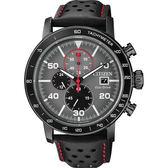 【CITIZEN】星辰 光動能賽車計時碼錶-灰x黑/43mm CA0645-15H